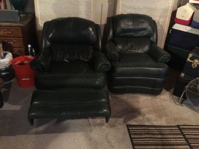 Real leather recliners