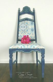 Blue Cathedral Accent Chair