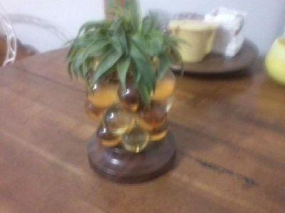 $15 Retro lucite/glass pineapple collectible '70's