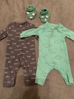 Onsie rompers with matching shoes
