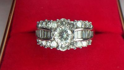 2.3 ctw diamond ring 14kt white gold