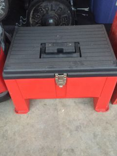 Tool box step / seat with pull out tray. Brand new