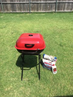 Aussie Grill with charcoal and lighter fluid