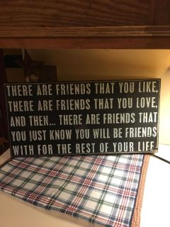 Large Friends saying sign