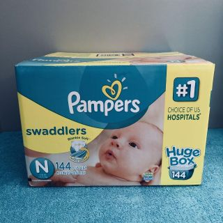 (( Un-Opened. )) Pampers Swaddlers Newborn Diapers. - - - - 144 Count.
