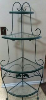 WROUGHT IRON CORNER STAND......NEW CONDITION