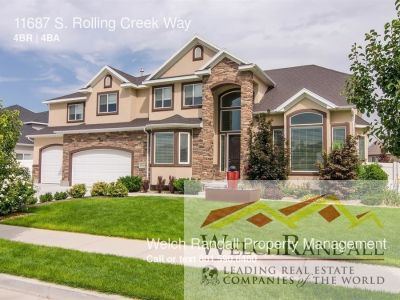 Single-family home Rental - 11687 S. Rolling Creek Way