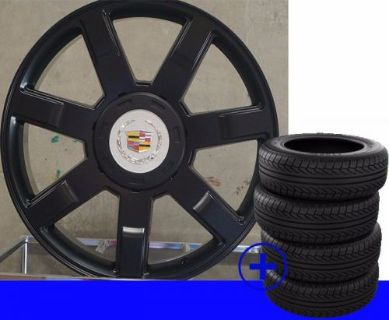 "Purchase 22"" Cadillac Escalade Black Platinum 7 Spoke Rims ESV EXT GM/Chevy Wheels /TIRES motorcycle in El Centro, California, United States, for US $1,399.00"