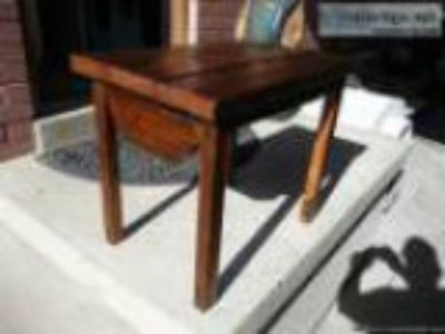 Years oldWeathered Barn Wood Timber Sofa End Table - Price