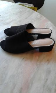 Suede slide in mules size 7.5