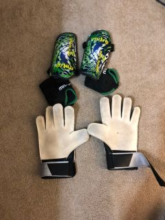 Soccer Goalie Gloves and Shin Guards