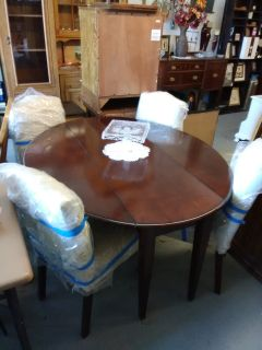 Drop leaf table beautiful new upholstery chairs