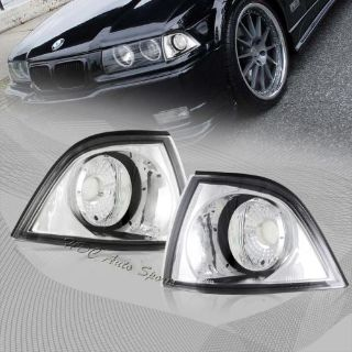 Find For 1992-1998 BMW E36 Coupe Chrome Housing Clear Lens Signal Corner Light Lamps motorcycle in Walnut, California, United States