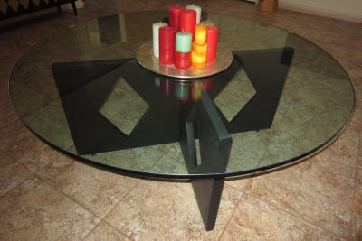 Round Glass COFFEE TABLE