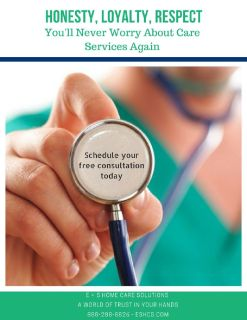 All your needs cared for by E&S Home Care Solutions