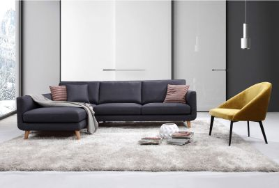Bellaire Modern Sectional Sofa (Left Facing)