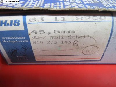 NOS German 45.5mm Exhaust Pipe Clamps