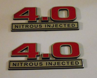 Find 4.0 Nitrous Injected emblems New Red Pair emblem motorcycle in Dade City, Florida, US, for US $19.99