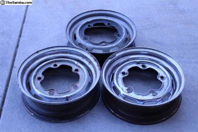 66-67 Style Bug/Ghia Chrome Rims