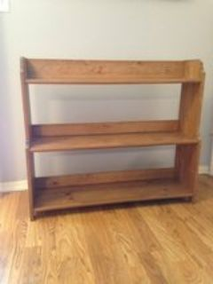 wood shelving or bookcase