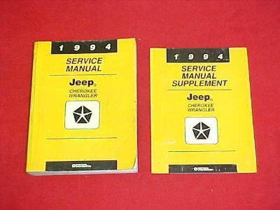 Find 1994 JEEP WRANGLER CHEROKEE SHOP SERVICE REPAIR MANUAL 94 W/ WIRING DIAGRAMS motorcycle in Leo, Indiana, US, for US $84.99