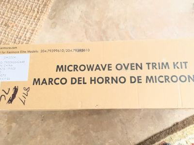 27 Microwave stainless trim for built ins