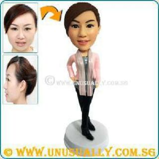Custom 3D Caricature Fixed or Bobblehead Clay Figurine or Mini Doll That Made To