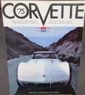 Buy Original 1975 Chevrolet Corvette Dealer Sales Brochure Stingray Coupe motorcycle in Holts Summit, Missouri, United States, for US $15.75