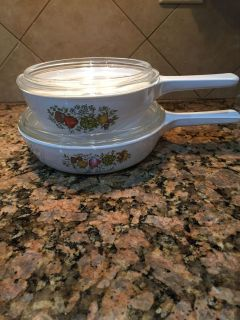 Vintage Corning Ware sold as a set