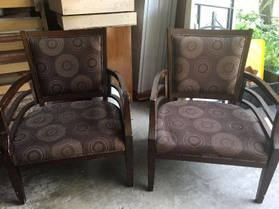 Two matching chairs.