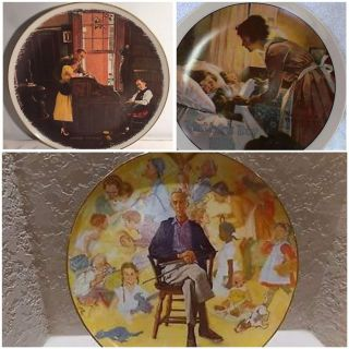 Norman Rockwell Collector Plates (3)