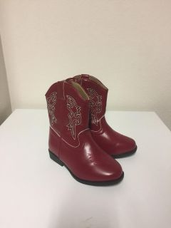 Toddler red boots