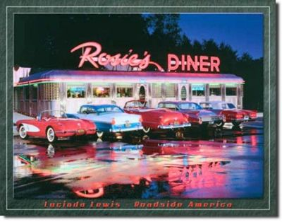 "Sell ROSIE'S DINER ROADSIDE AMERICA NEW NOSTALGIC STEEL SIGN ""FREE SHIPPING!!!"" motorcycle in Brooksville, Florida, United States, for US $14.98"