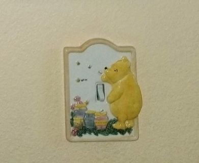 Classic Winnie the Pooh light switch cover
