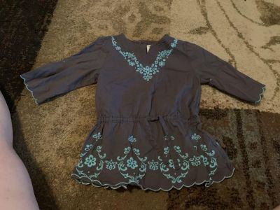 Savannah 18m blue cotton ls top - ppu (near old chemstrand & 29) or PU @ the Marcus Pointe Thrift Store (on W st)