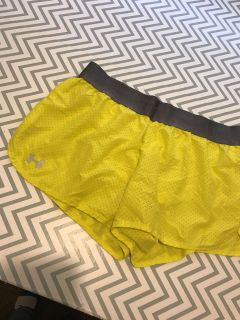 Yellow under armour shorts