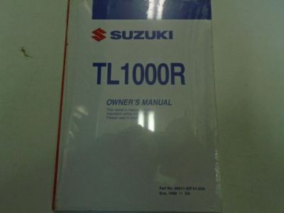 Find 1999 Suzuki TL1000R Owners Operators Owner Manual BRAND NEW motorcycle in Sterling Heights, Michigan, United States, for US $54.99