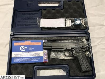 "For Sale: Colt Combat Unit Rail 1911 9mm 5"" Mint"