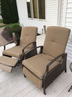 Two recliner deck chairs...selling together