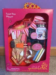 Brand New unopened OG sweet Shop playset for 18 in dolls. Perfect for Christmas.