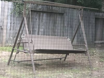 Outdoor patio yard swing rocker glider and bed