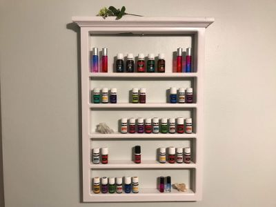 Essential Oil Shelf, Nail Polish Shelf, Rectangle Shelf, Floating Shelf, Wood Shelf
