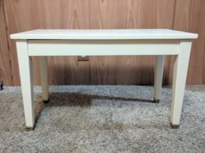 Smooth Ivory Piano Seat With Storage