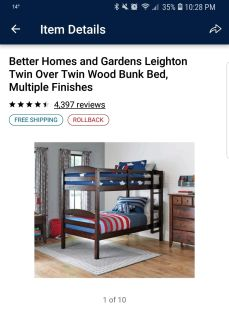 Better homes and gardens bunk bed
