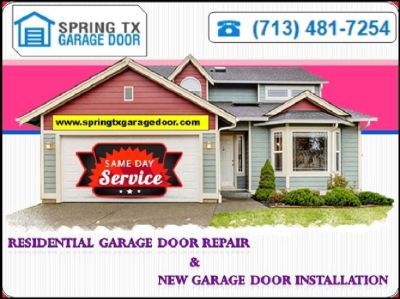One of the Best Garage Door Spring Repair company in Spring, TX | $25.95