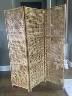 3 panel woven bamboo Privacy Screen