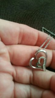 Sterling silver pendant and chain from Kays jewelers $25.00