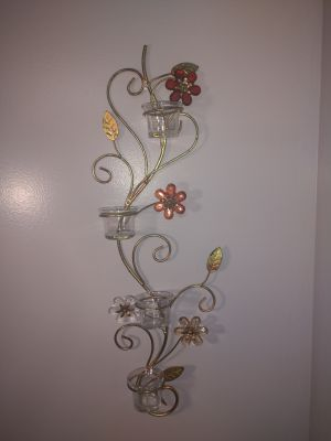 Wall candle holder decor