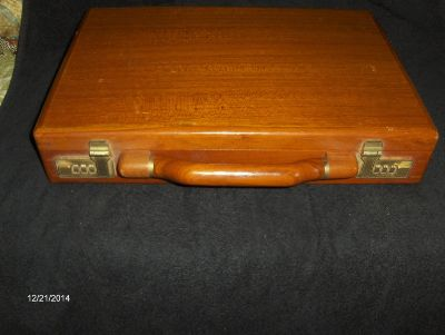 Rare Wooden Captains Brief Case