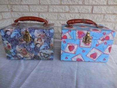 Pair Jewelry or Makeup Cases